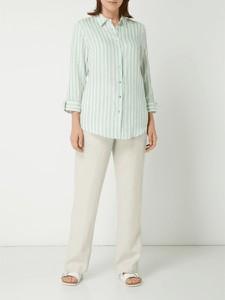 Bluzka Malvin z długim rękawem z lnu