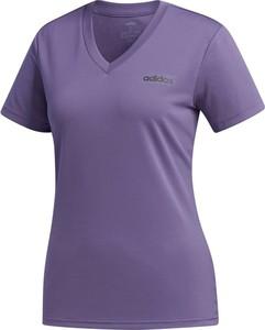Fioletowy t-shirt darcet z krótkim rękawem