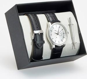 Reserved - Zegarek ze skórzanymi paskami - Czarny