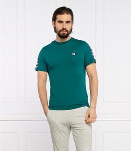 Zielony t-shirt Fila w sportowym stylu