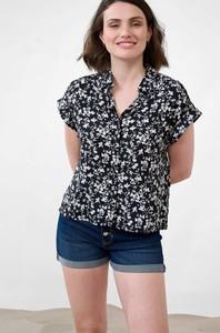 Bluzka ORSAY z tkaniny w stylu casual z krótkim rękawem