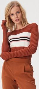 Pomarańczowy sweter Sinsay w stylu casual
