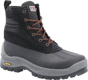 Czarne buty zimowe Napapijri ze skóry sznurowane
