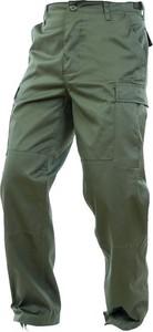 Zielone spodnie Mil-Tec z bawełny