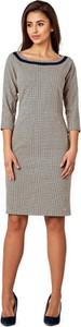 Sukienka POTIS & VERSO z zamszu z długim rękawem
