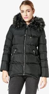 Czarna kurtka Feewear długa w stylu casual
