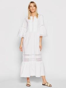 Sukienka Twinset maxi z długim rękawem z okrągłym dekoltem