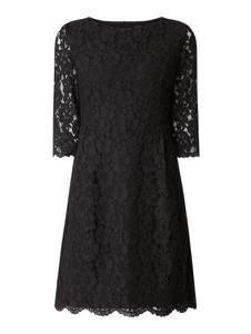 Sukienka Montego z długim rękawem z okrągłym dekoltem mini