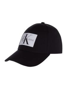 Czarna czapka Calvin Klein z bawełny w młodzieżowym stylu