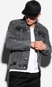 Czarna kurtka Ombre w młodzieżowym stylu