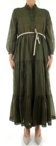 Zielona sukienka Niu z długim rękawem