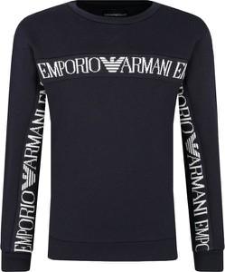 Czarna bluza dziecięca Emporio Armani