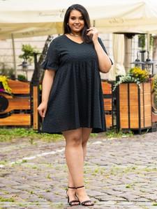 Sukienka KARKO z bawełny z krótkim rękawem