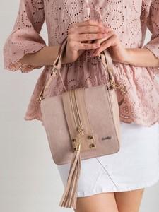 Różowa torebka Rovicky mała z frędzlami