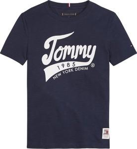 Czarna koszulka dziecięca Tommy Hilfiger