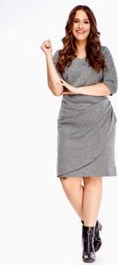 Sukienka Do-ro dla puszystych w stylu casual midi
