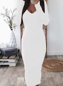 Sukienka Cikelly maxi z długim rękawem ołówkowa