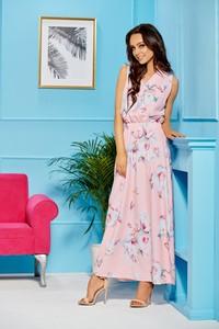 Różowa sukienka TAGLESS
