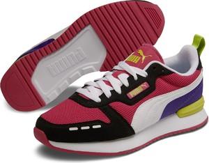 Granatowe buty sportowe dziecięce Puma na rzepy