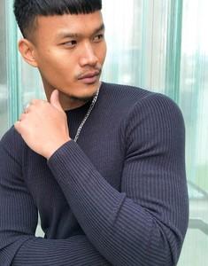 Granatowy sweter Asos w stylu casual