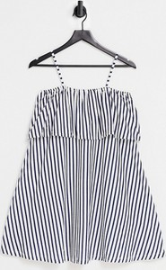 Granatowa sukienka Asos w stylu casual mini
