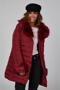 Czerwony płaszcz Curvy Lady w stylu casual