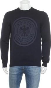 Sweter Hugo Boss w młodzieżowym stylu z bawełny z okrągłym dekoltem