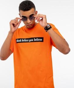 T-shirt Bor z krótkim rękawem z bawełny z nadrukiem