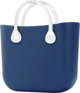 Granatowa torebka O Bag do ręki matowa