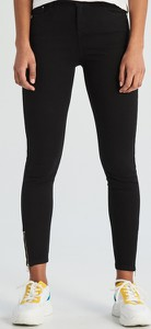 Czarne spodnie Sinsay w stylu casual