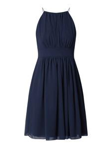 Sukienka Swing z szyfonu z okrągłym dekoltem