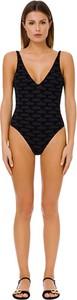Czarny strój kąpielowy Elisabetta Franchi w stylu casual z nadrukiem