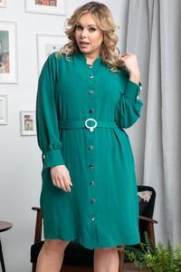 Zielona sukienka KARKO mini w stylu casual szmizjerka