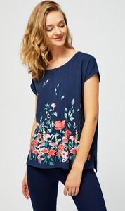 62d12a763a Niebieskie bluzki damskie z okrągłym dekoltem