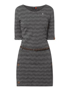 Sukienka Ragwear z okrągłym dekoltem z krótkim rękawem mini