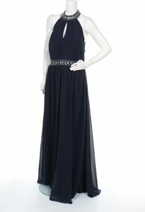 Niebieska sukienka Weise maxi bez rękawów