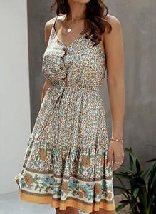 Sukienka Arilook w stylu casual mini z dekoltem w kształcie litery v
