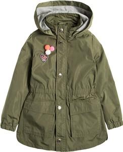 Zielony płaszcz dziecięcy Cool Club z bawełny