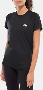 Czarny t-shirt The North Face z krótkim rękawem w sportowym stylu