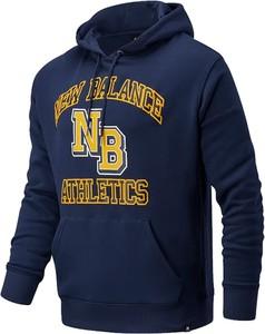 Niebieska bluza New Balance z bawełny w sportowym stylu