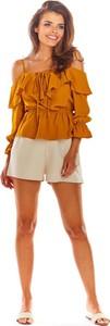 Pomarańczowa bluzka Awama hiszpanka
