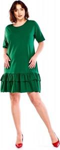 Sukienka Bomo Moda mini z okrągłym dekoltem