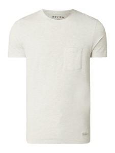 T-shirt Review w stylu casual z krótkim rękawem