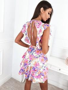 Sukienka Infinityfashion.pl mini trapezowa z krótkim rękawem
