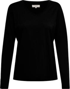 Czarna bluzka Cream z okrągłym dekoltem w stylu casual