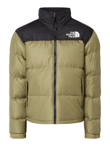 Zielona kurtka The North Face w młodzieżowym stylu