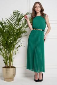 Sukienka Ella Boutique z okrągłym dekoltem maxi