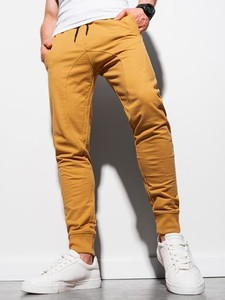 Żółte spodnie sportowe Ombre w sportowym stylu