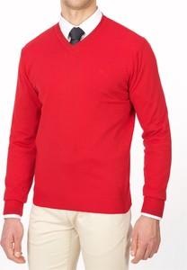 Różowy sweter Lanieri w stylu casual z bawełny