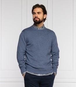 Niebieski sweter Tommy Hilfiger z kaszmiru w stylu casual